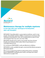 REVLIMID® Maintenance Brochure
