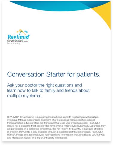 REVLIMID® Patient Conversation Starter