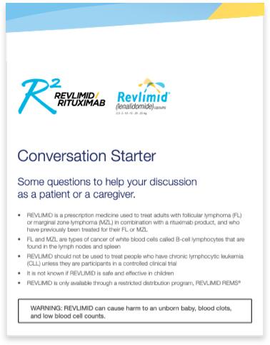 REVLIMID® + rituximab Patient conversation starter